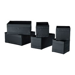 SKUBB box, set of 6, black