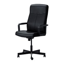 MALKOLM swivel chair, black Tested for: 110 kg Depth: 65 cm Max. height: 123 cm