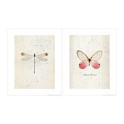 TVILLING poster, set of 2, take flight Width: 40 cm Height: 50 cm
