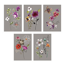 KORT art card, city flowers Width: 10 cm Height: 15 cm Package quantity: 5 pack