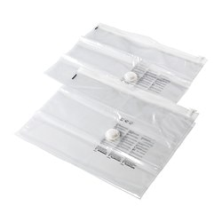 HAJDEBY vacuum-sealed bag, transparent Length: 85 cm Width: 55 cm Package quantity: 2 pack