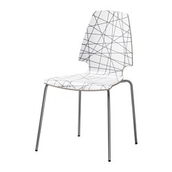 "VILMAR chair, striped black, chrome plated Tested for: 243 lb Width: 20 1/2 "" Depth: 21 5/8 "" Tested for: 110 kg Width: 52 cm Depth: 55 cm"