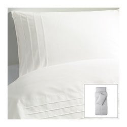 ALVINE STRÅ quilt cover and 2 pillowcases, white Quilt cover length: 200 cm Quilt cover width: 150 cm Pillowcase length: 50 cm