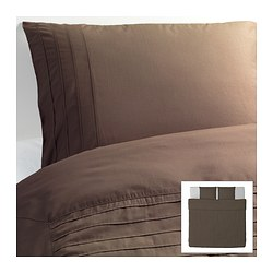 ALVINE STRÅ quilt cover and 2 pillowcases, brown Quilt cover length: 220 cm Quilt cover width: 240 cm Pillowcase length: 50 cm