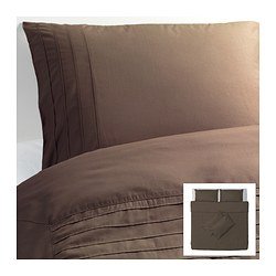 ALVINE STRÅ quilt cover and 4 pillowcases, brown Quilt cover length: 220 cm Quilt cover width: 240 cm Pillowcase length: 50 cm