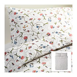 "ALVINE ÖRTER duvet cover and pillowcase(s), multicolor Duvet cover length: 86 "" Duvet cover width: 86 "" Pillowcase length: 20 "" Duvet cover length: 218 cm Duvet cover width: 218 cm Pillowcase length: 51 cm"