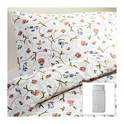 "ALVINE ÖRTER duvet cover and pillowcase(s), multicolor Duvet cover length: 86 "" Duvet cover width: 64 "" Pillowcase length: 20 "" Duvet cover length: 218 cm Duvet cover width: 162 cm Pillowcase length: 51 cm"