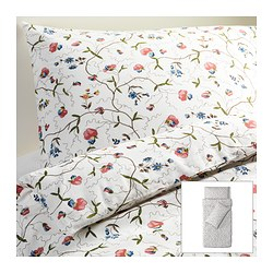 ALVINE ÖRTER quilt cover and 2 pillowcases, multicolour Quilt cover length: 200 cm Quilt cover width: 150 cm Pillowcase length: 50 cm