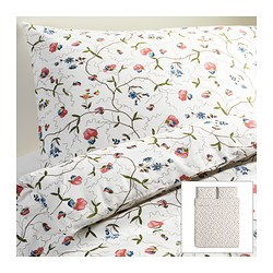 ALVINE ÖRTER quilt cover and 2 pillowcases, multicolour Quilt cover length: 230 cm Quilt cover width: 200 cm Pillowcase length: 50 cm