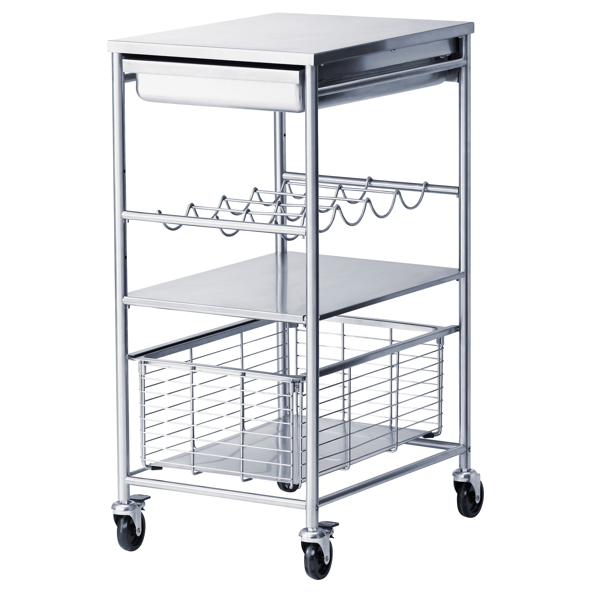 grundtal kitchen cart stainless steel length 21 14 width 16. beautiful ideas. Home Design Ideas