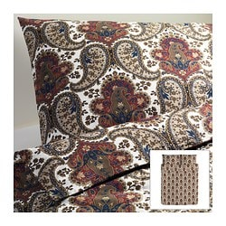 BACKSÖTA quilt cover and 2 pillowcases, brown Quilt cover length: 230 cm Quilt cover width: 200 cm Pillowcase length: 50 cm