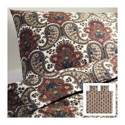 BACKSÖTA quilt cover and 2 pillowcases, brown Quilt cover length: 220 cm Quilt cover width: 240 cm Pillowcase length: 50 cm