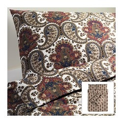 BACKSÖTA quilt cover and 4 pillowcases, brown Quilt cover length: 200 cm Quilt cover width: 200 cm Pillowcase length: 50 cm