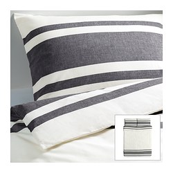 "BJÖRNLOKA duvet cover and pillowcase(s), black Duvet cover length: 86 "" Duvet cover width: 86 "" Pillowcase length: 20 "" Duvet cover length: 218 cm Duvet cover width: 218 cm Pillowcase length: 51 cm"