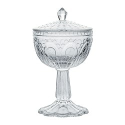"FÖRTJUST bowl with lid, clear glass Diameter: 4 ¼ "" Height: 7 ¾ "" Diameter: 11 cm Height: 20 cm"