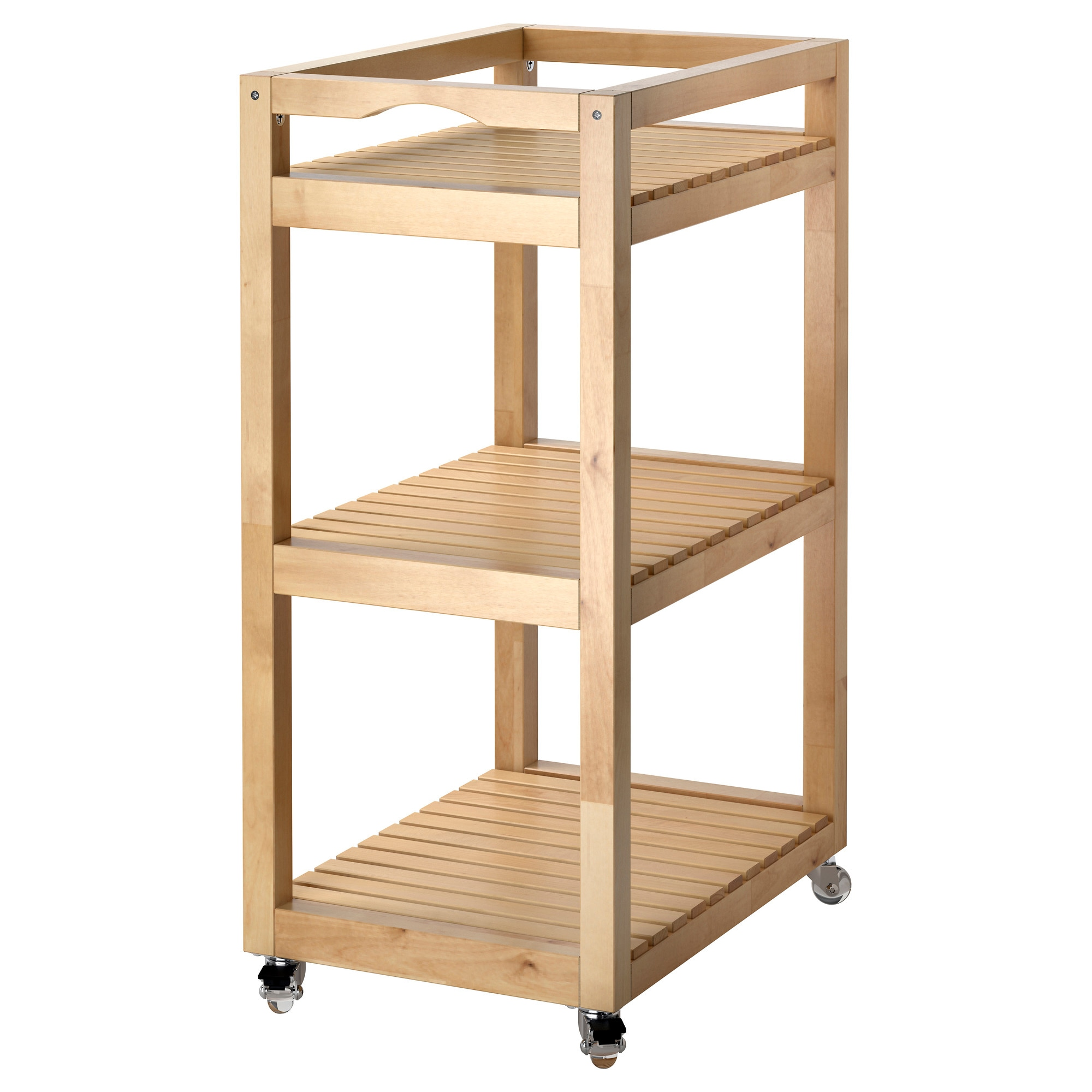 Ikea Kitchen Storage Cart Molger Cart Birch Ikea