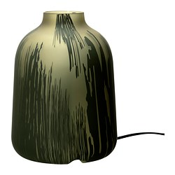 KOPPAR table lamp, olive green Height: 22 cm