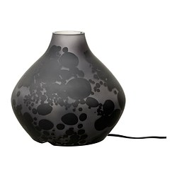 KOPPAR table lamp, grey Height: 20 cm