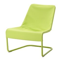LOCKSTA easy chair, green Width: 71 cm Depth: 75 cm Height: 78 cm