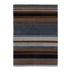 STOCKHOLM rug, low pile, brown handmade brown Length: 240 cm Width: 170 cm Area: 4.08 m²