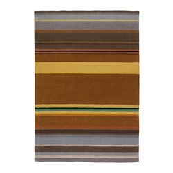 "STOCKHOLM rug, low pile, handmade yellow yellow Length: 7 ' 10 "" Width: 5 ' 7 "" Area: 43.92 sq feet Length: 240 cm Width: 170 cm Area: 4.08 m²"
