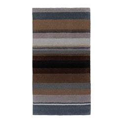 STOCKHOLM rug, low pile, brown handmade brown Length: 150 cm Width: 80 cm Area: 1.20 m²