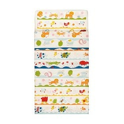 BARNSLIG DANS quilt cover/pillowcase for cot, multicolour Quilt cover length: 125 cm Quilt cover width: 110 cm Pillowcase length: 35 cm
