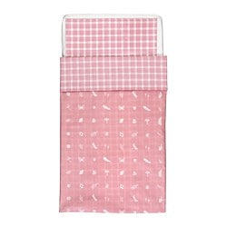 "VANDRING SKOG crib duvet cover/pillowcase, pink Duvet cover length: 49 "" Duvet cover width: 43 "" Pillowcase length: 22 "" Duvet cover length: 125 cm Duvet cover width: 110 cm Pillowcase length: 55 cm"