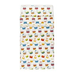 VITAMINER TRUMMA quilt cover/pillowcase for cot, multicolour Quilt cover length: 125 cm Quilt cover width: 110 cm Pillowcase length: 55 cm