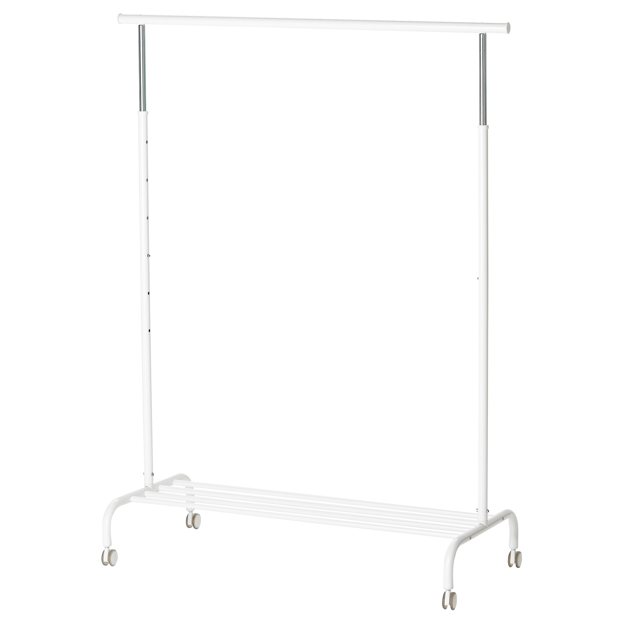 RIGGA clothes rack, white Width: 43 3/4