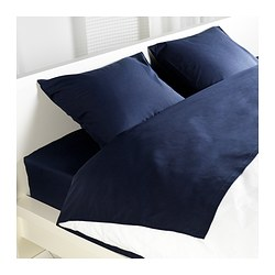 DVALA sheet set, dark blue Thread count: 144 /inch² Thread count: 144 /inch²