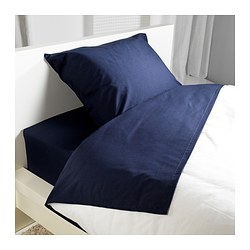 DVALA sheet set, dark blue