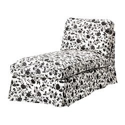 EKTORP cover free-standing chaise longue, Hovby white/black