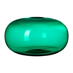 STOCKHOLM vase, green Diameter: 35 cm Height: 20 cm