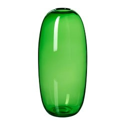 STOCKHOLM vase, green Diameter: 18 cm Height: 40 cm
