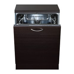 RENGÖRA integrated dishwasher, grey Width: 59.6 cm Depth: 55.5 cm Height: 81.8 cm
