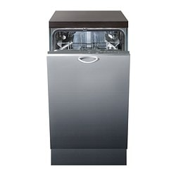 HJÄLPSAM integrated dishwasher A, grey Width: 44.6 cm Depth: 55.5 cm Height: 81.8 cm
