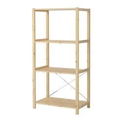 IVAR shelving unit, pine