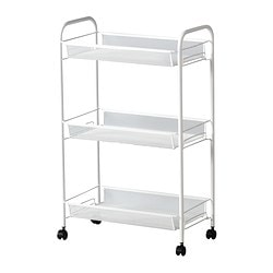 HORNAVAN trolley, white