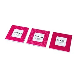 NOSABY frame, pink, magnetic Package quantity: 3 pack