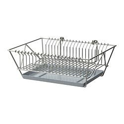 "FINTORP dish drainer, nickel plated Width: 14 ¾ "" Depth: 11 ½ "" Height: 5 ¼ "" Width: 37.5 cm Depth: 29 cm Height: 13.5 cm"