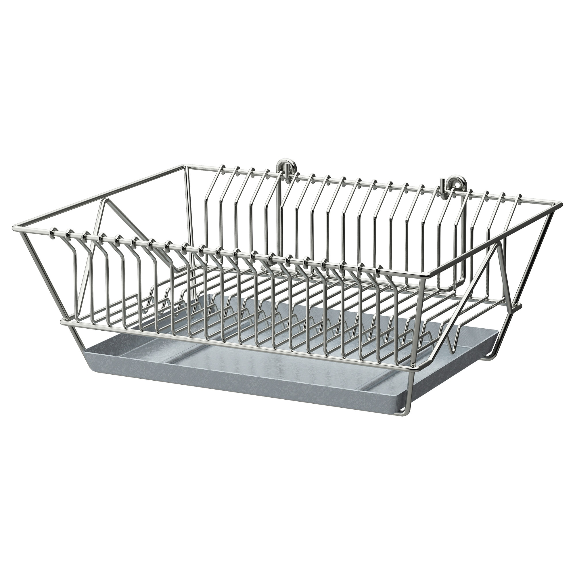 Wall mounted plate racks for kitchens - Fintorp Dish Drainer Nickel Plated Width 14 Depth 11