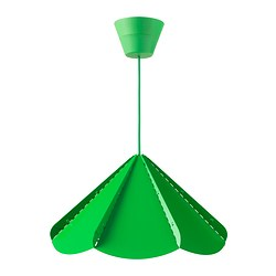 JONOSFÄR pendant lamp, green Diameter: 39 cm Height: 23 cm