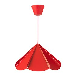"JONOSFÄR pendant lamp, red Diameter: 15 "" Height: 9 "" Diameter: 39 cm Height: 23 cm"
