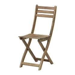 ASKHOLMEN folding chair, grey-brown Width: 36 cm Depth: 49 cm Height: 87 cm