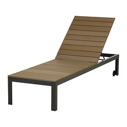 "FALSTER chaise, brown, black Length: 78 3/4 "" Width: 23 5/8 "" Height: 13 "" Length: 200 cm Width: 60 cm Height: 33 cm"