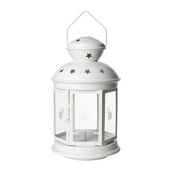 "ROTERA lantern for block candle Height: 15 "" Height: 38 cm"