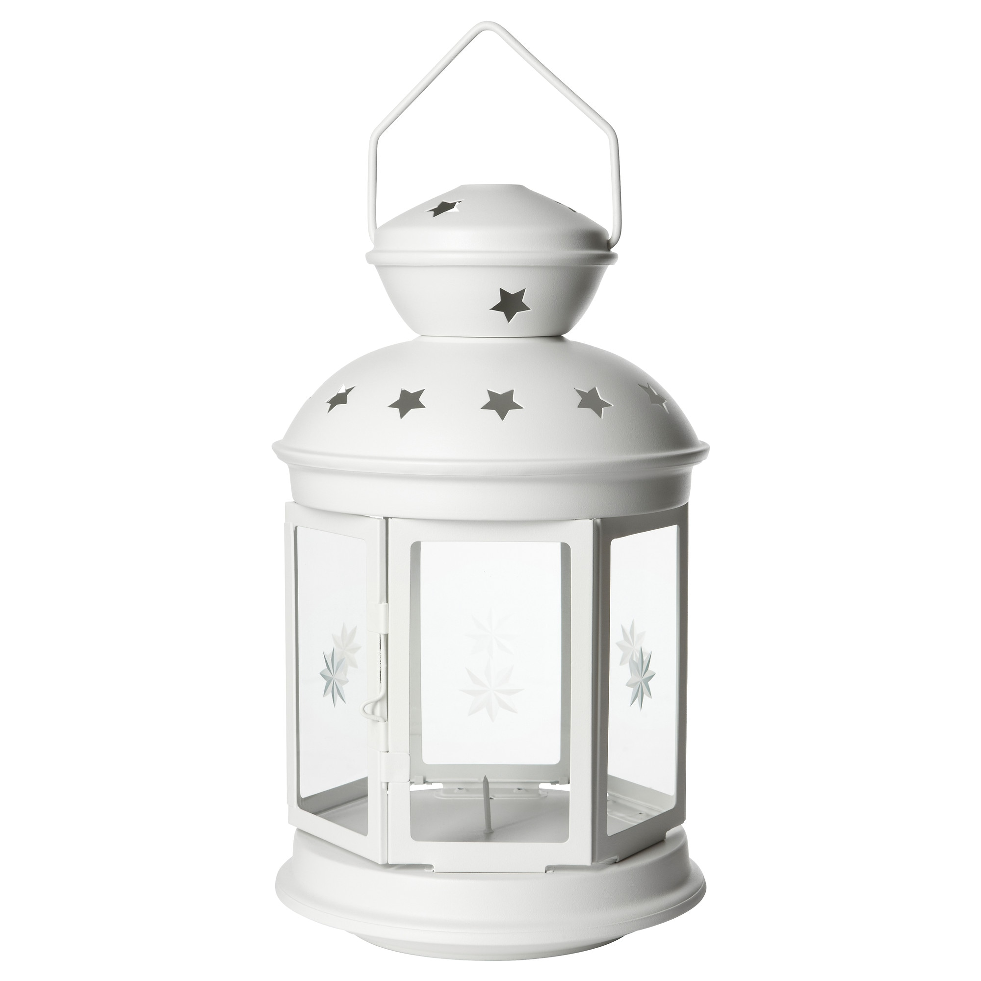 ROTERA Lantern For Block Candle, White Indoor/outdoor White Height: 15