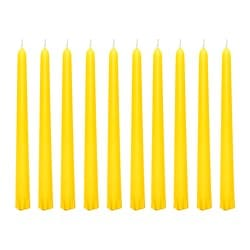 JUBLA unscented candle, yellow Diameter: 22 mm Height: 23 cm Burning time: 5 hr