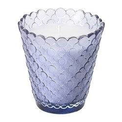 "TIDSENLIG scented candle in glass, lilac Diameter: 3 ¼ "" Height: 3 ¼ "" Burning time: 25 hr Diameter: 8 cm Height: 8 cm Burning time: 25 hr"